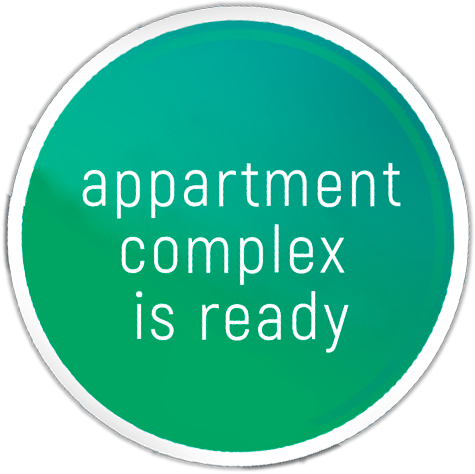 appartment complex is ready